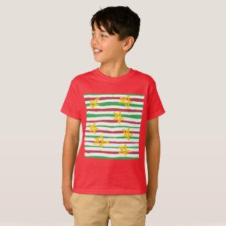 Stars on Christmas Stripes T-Shirt