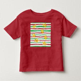 Stars on Christmas Stripes Toddler T-Shirt