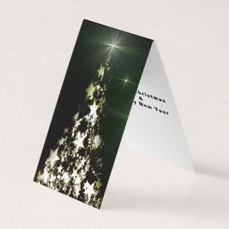 Stars on Christmas Tree Night Sky Folded Tent Card