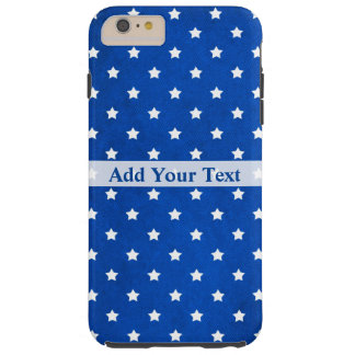 Stars on Digital Fabric Texture by Shirley Taylor Tough iPhone 6 Plus Case