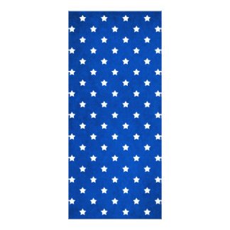 Stars On Fabric Texture Personalized Rack Card