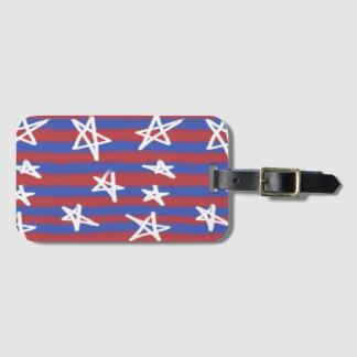 Stars on Stripes Luggage Tag