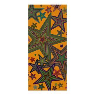 Stars, Orange background Rack Card