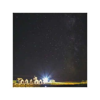 Stars over Wood Islands Canvas Print