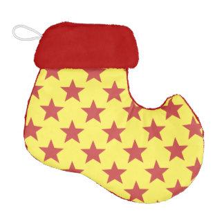 stars patter elf christmas stocking