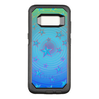 Stars pattern with colour adjustable OtterBox commuter samsung galaxy s8 case