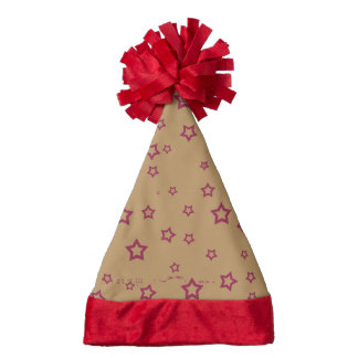 stars patterned santa hat