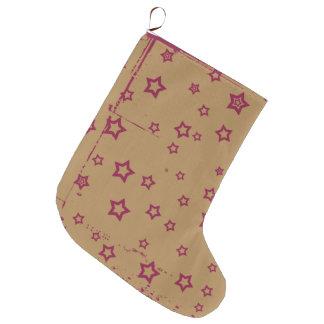 stars patterned large christmas stocking