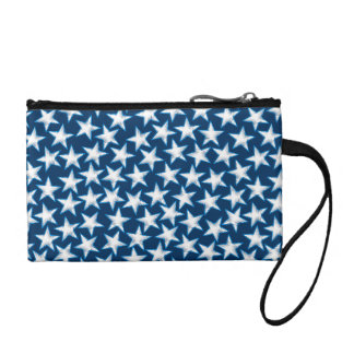 Stars printed embroidery coin purse