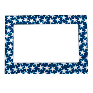 Stars printed embroidery magnetic picture frame