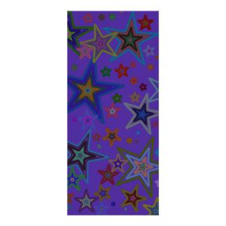 Stars, Purple background Rack Card