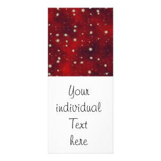 stars red 10 cm x 23 cm rack card