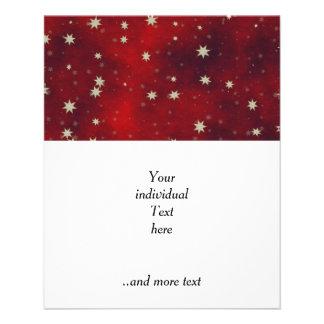 stars red 11.5 cm x 14 cm flyer