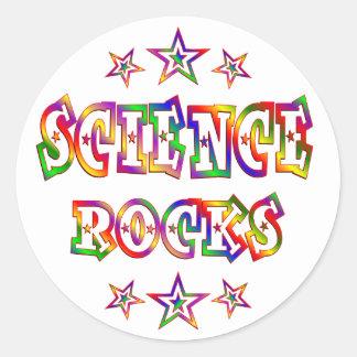 Stars Science Rocks Round Stickers