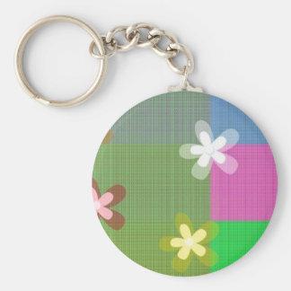 Stars Shape Designe Basic Round Button Key Ring