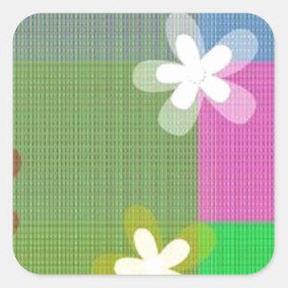 Stars Shape Designe Square Sticker
