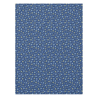 Stars Space Pattern Retro 1960s Geometric Blue Tablecloth