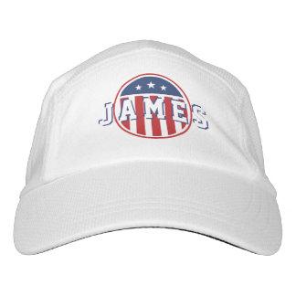 Stars &  Spangled US American Flag. Add Name. Hat