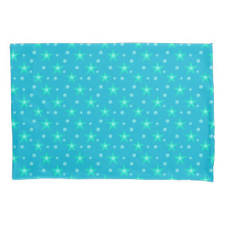 Stars Starry Bubbles Blue Mermaid Fantasy Nautical Pillowcase