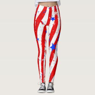 Stars & Stripes American Pride Leggings by Julie
