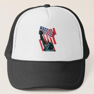 Stars, stripes and liberty trucker hat