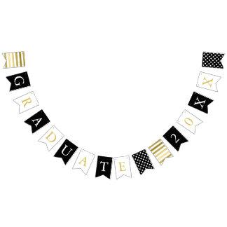 Stars & Stripes | Black White Gold | Graduate Bunting