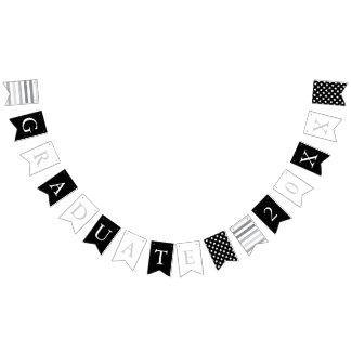 Stars & Stripes | Black White Silver | Graduate Bunting