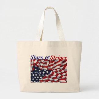 STARS & STRIPES by SHARON SHARPE Jumbo Tote Bag