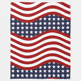 STARS & STRIPES FOREVER! (American flag design) ~ Fleece Blanket