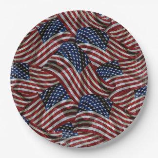 Stars & Stripes Forever USA Flag Paper Plate