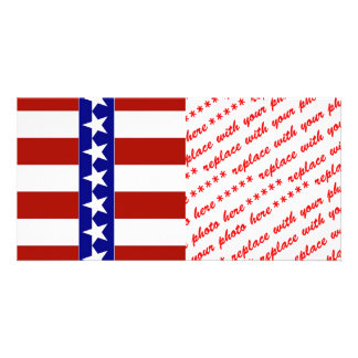 Stars & Stripes of Red White And Blue Photo Greeting Card