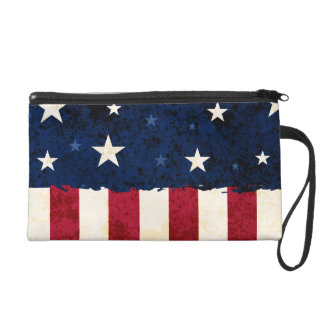 Stars & Stripes Patriotic Bagettes Bag Wristlet Clutches