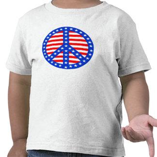 Stars & Stripes Peace Sign Tee Shirt