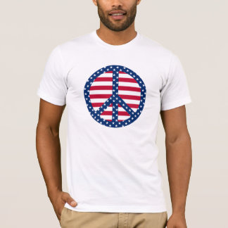 Stars & Stripes Peace Symbol T-Shirt