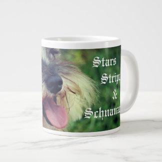 Stars Stripes & Schnauzers Patriotic Giant Coffee Mug