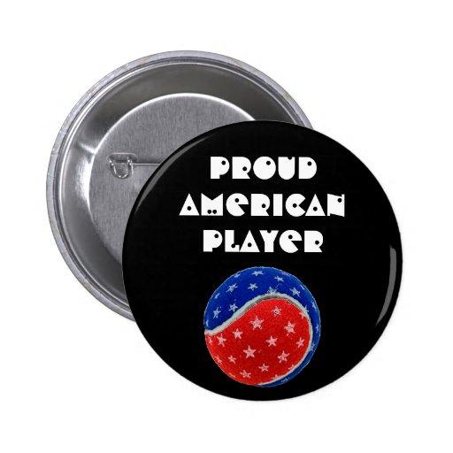 Stars & Stripes Tennis Ball -Proud American Player Pin
