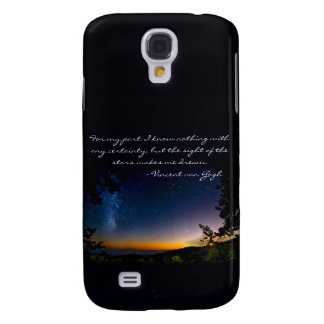 Stars Van Gogh Quote, Samsung Galaxy S4 Cover