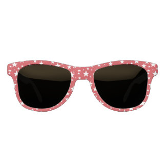 Stars with Red Background Sunglasses