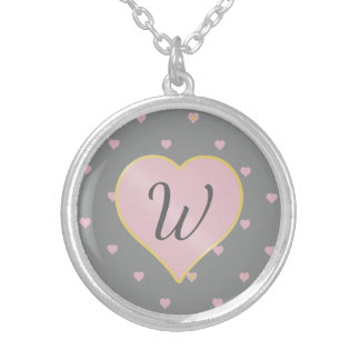 Stars Within Hearts on Gray Necklace