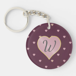 Stars Within Hearts on Port Acrylic Keychain