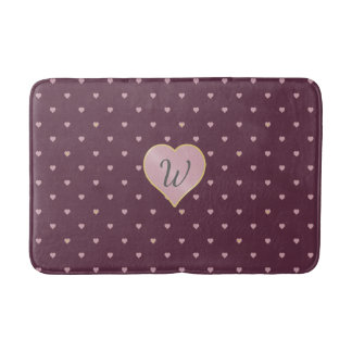 Stars Within Hearts on Port Bath Mat