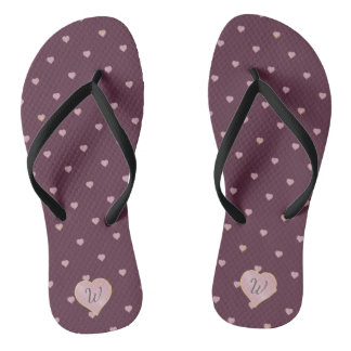 Stars Within Hearts on Port Flip Flops