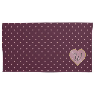 Stars Within Hearts on Port Pillow Case