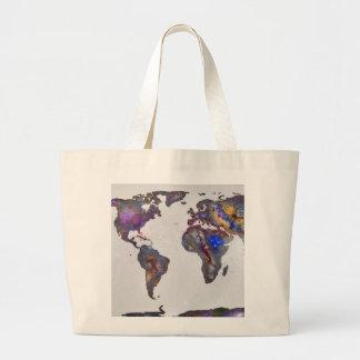 Stars world map bag