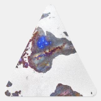 Stars world map triangle sticker