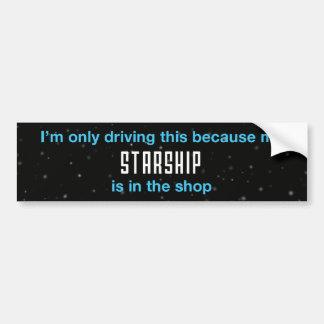 Starship Bumper Sticker