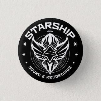 STARSHIP Sound & Recordings Button (Blk Bkgd)