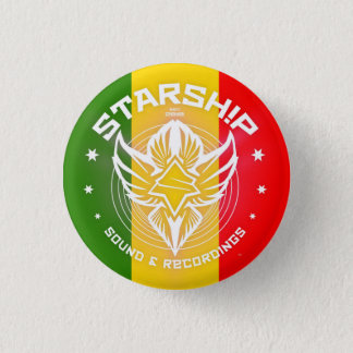 STARSHIP Sound & Recordings Button (Rastafarian)