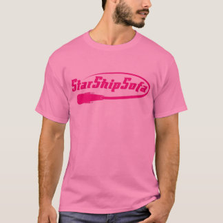 StarShipSofa Text Magenta on Pink T-Shirt