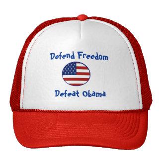 starsnstripesshield, Defend Freedom, Defeat Obama Cap